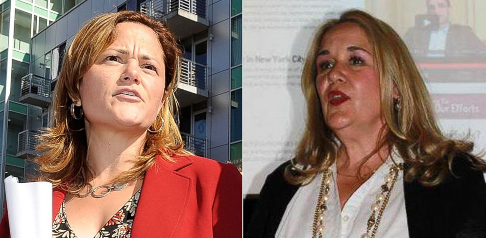 PHOTO: Manhattan city councilwoman Melissa Mark-Viverito, left, is being sued for $1 million by Gwen Goodwin, a former primary opponent, over a mural bearing the image of a butchered bird.