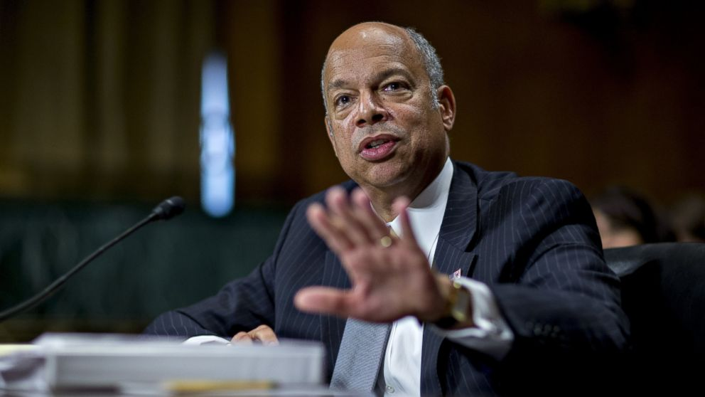 Jeh Johnson, U.S. secretary of Homeland Security (DHS), speaks during a Senate Judiciary Committee hearing in Washington, June 30, 2016.