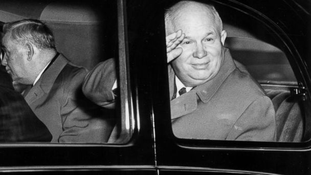 PHOTO: First secretary of the Soviet Communist party Nikita Sergeyevich Khrushchev