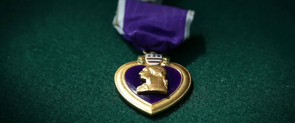 PHOTO: A Purple Heart medal is seen during a Purple Heart ceremony June 9, 2015 at George Washingtons Mount Vernon in Mount Vernon, Virginia. The U.S. Army held celebration for its 240th birthday.