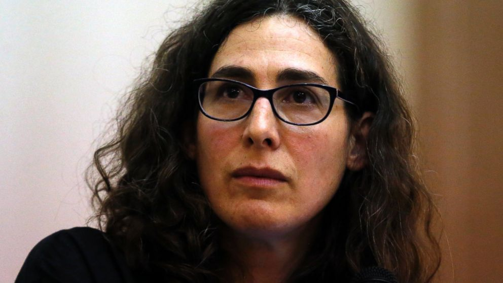 In this file photo, Sarah Koenig, producer and host of the podcast Serial speaks at Boston University's 'Power of Narrative' conference in Boston, March 29, 2015.