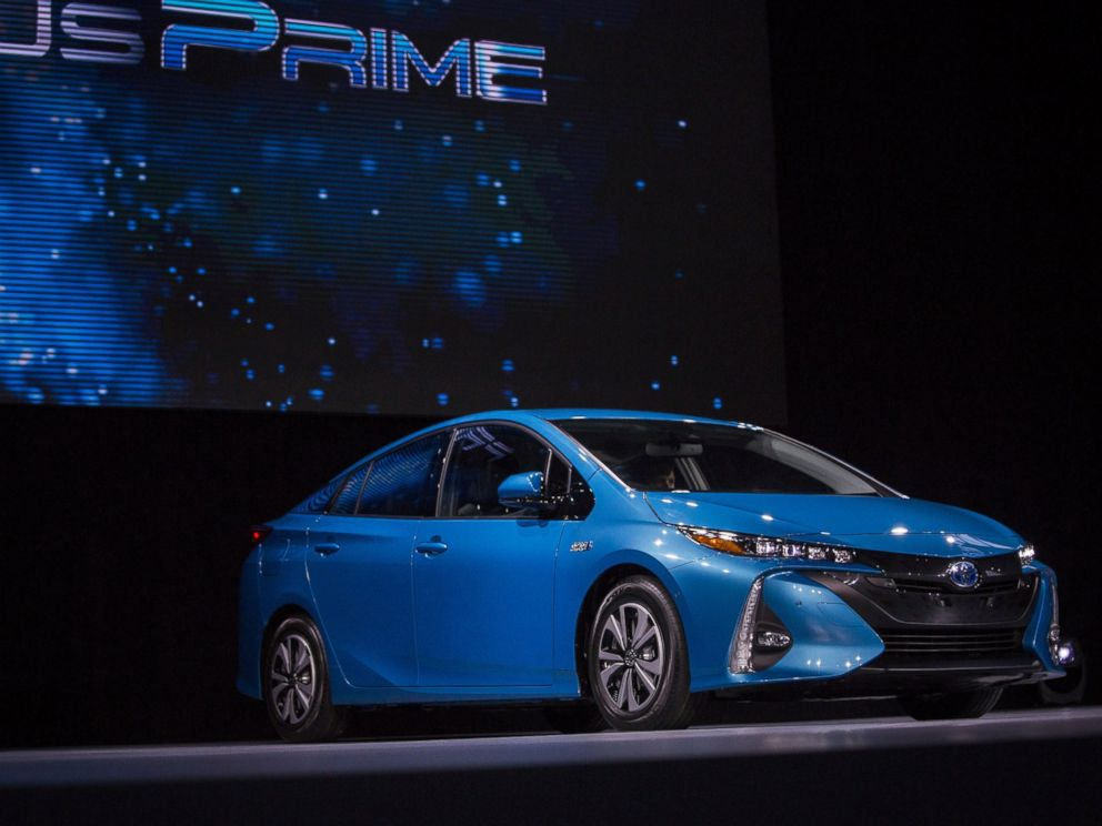 PHOTO: The Toyota Motor Corp. Prius Prime plug-in hybrid vehicle is unveiled during the 2016 New York International Auto Show on March 23, 2016 in New York City.