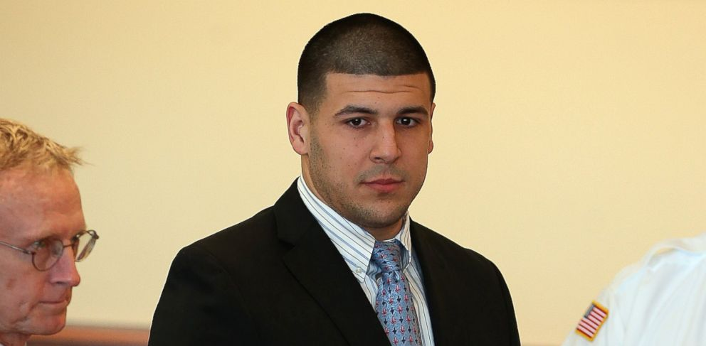 PHOTO: Hernandez appeared for a pre-trial hearing at Bristol County Superior Court. Aaron Hernandez, a former New England Patriots player, pleaded not-guilty to murder and weapons charges related to the death of Odin Lloyd of Dorchester, Feb. 7, 2014.