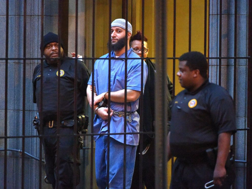PHOTO: Officials escort Serial podcast subject Adnan Syed from the courthouse following the completion of the first day of hearings for a retrial in Baltimore, Feb. 3, 2016.