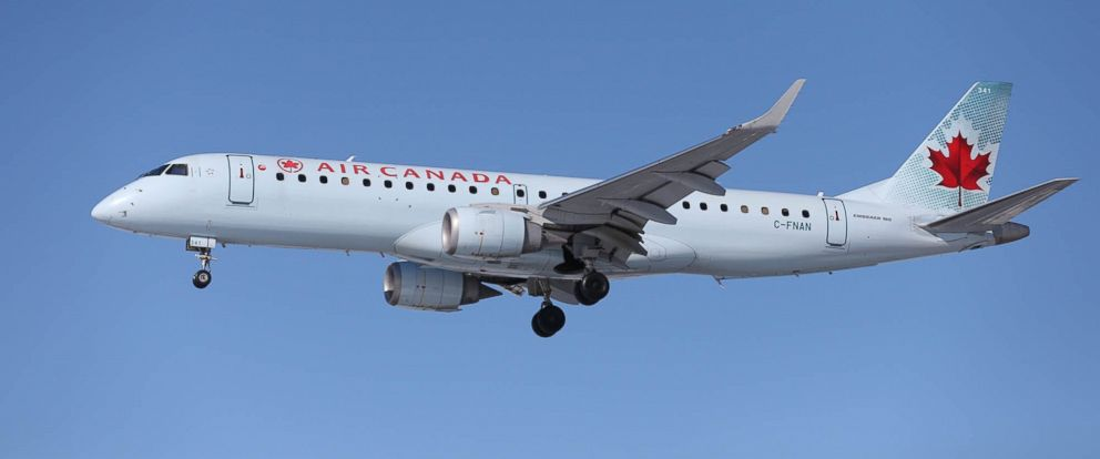 PHOTO: An Air Canada airplane about to land at Pearson International Airport in Toronto.