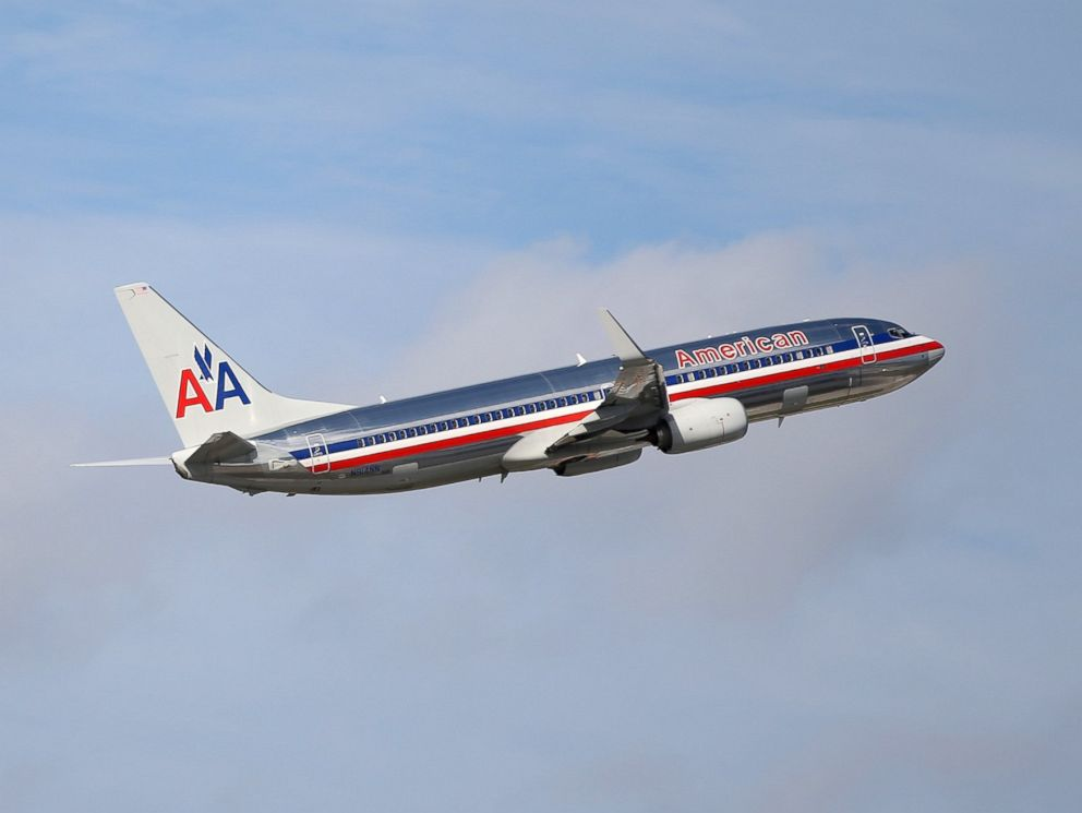 PHOTO: An American Airlines plane takes off from the Miami International Airport, Nov. 12, 2013 in Miami.