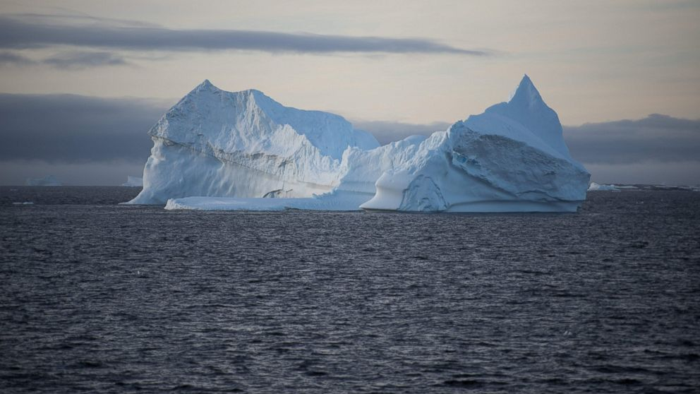 An iceberg is pictured in the western Antarctic peninsula, March 2, 2016.