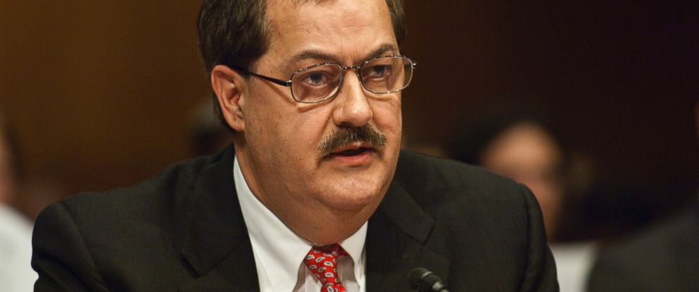 PHOTO: Don L. Blankenship, chairman and CEO of Massey Energy Co., appears before a Senate Appropriations Subcommittee on Labor, Health and Human Services, Education, and Related Agencies hearing on mine safety May 20, 2010 in Washington.