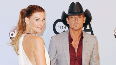 PHOTO: Singers Faith Hill and husband Tim McGraw attend the 47th annual CMA Awards at the Bridgestone Arena, Nov. 6, 2013 in Nashville, Tenn.