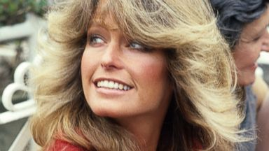 PHOTO: Farrah Fawcett attends a press conference at The Dorchester Hotel in London, May 5, 1978.