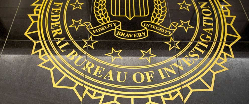 PHOTO: The seal of the Federal Bureau of Investigation is seen on the floor at the FBIs Washington field office in Washington, D.C. on March 13, 2014.