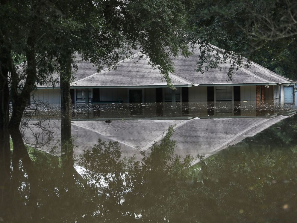 PHOTO: A flooded home is seen, Aug. 15, 2016, in Baton Rouge, Louisiana.