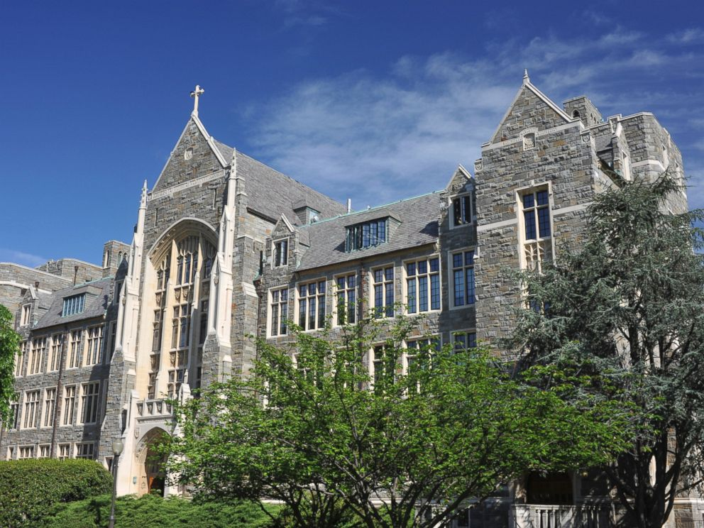 PHOTO: White-Gravenor Hall of Georgetown University is shown.