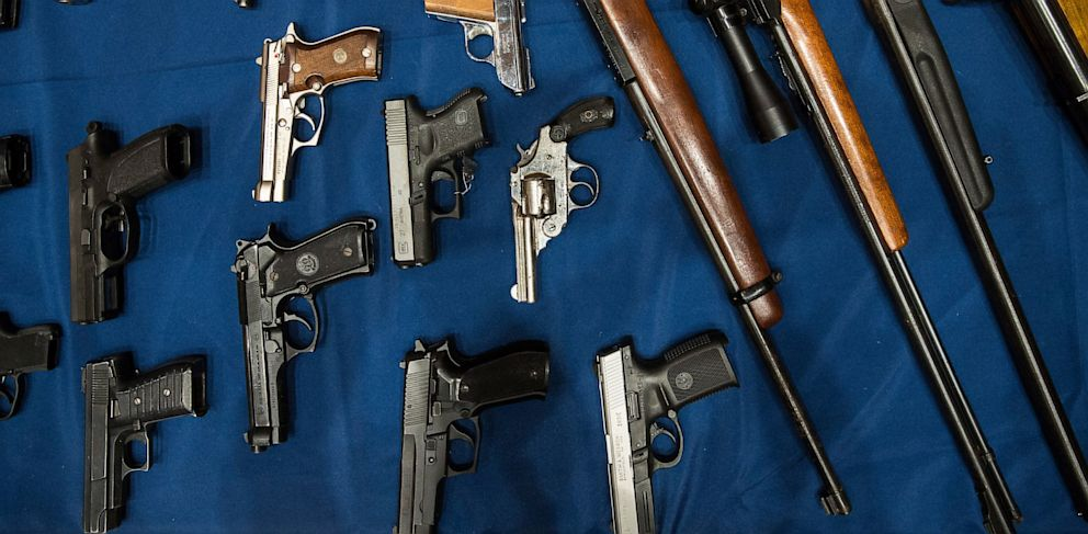 PHOTO: Guns seized by the New York Police Department