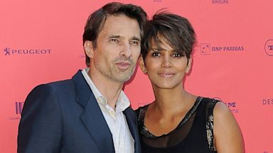 PHOTO: Olivier Martinez and Halle Berry attend the Toiles Enchantees red carpet as part of The Champs Elysees Film Festival 2013 at Publicis Champs Elysees, June 13, 2013 in Paris.