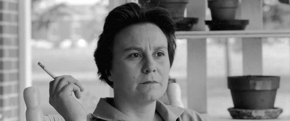 PHOTO: American novelist Harper Lee sits on the porch of her parents home, Monroeville, Alabama, May 1961.