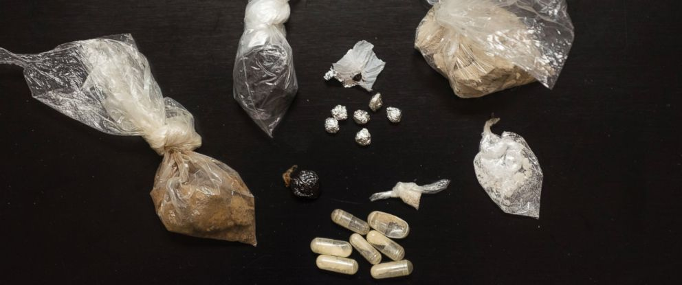 PHOTO: Different types of heroin were on display at the State Crime Lab at the Ohio Attorney Generals headquarters of the Bureau of Criminal Investigation, Sept. 16, 2015 in London, Ohio.