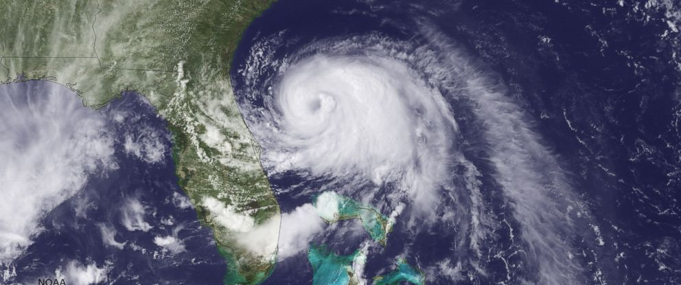 PHOTO: In this handout provided by the National Oceanic and Atmospheric Administration (NOAA) from the GOES-East satellite, Tropical Storm Arthur travels up the east coast of the United States in the Atlantic Ocean on July 2, 2014.