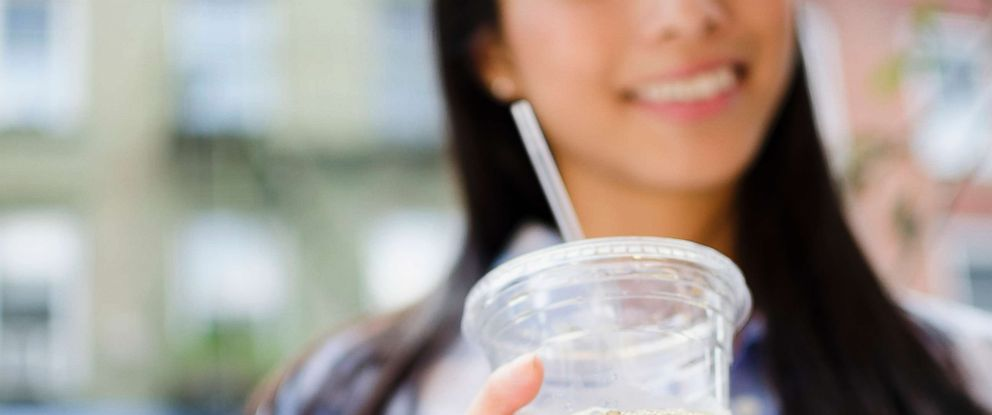 PHOTO:A woman drinks an ice coffee in this undated stock photo.