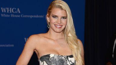 PHOTO: Jessica Simpson attends the 100th Annual White House Correspondents Association Dinner at the Washington Hilton, May 3, 2014, in Washington.