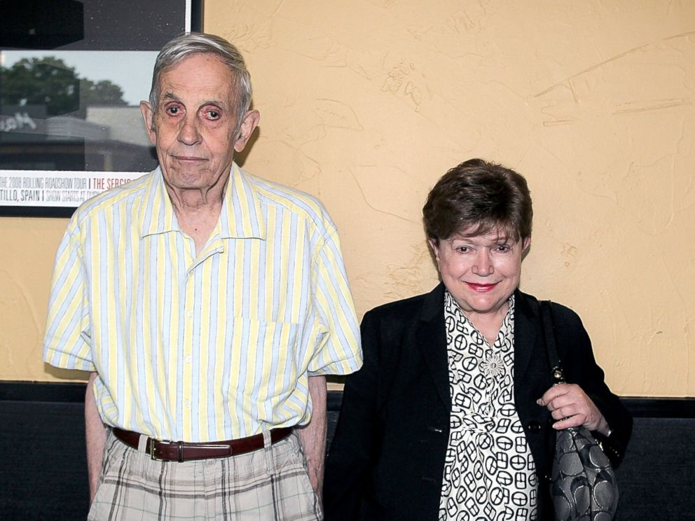 PHOTO: Mathematician and Nobel Prize winner John Nash (L) and his wife Alicia Nash attend a screening of A Beautiful Mind at the Alamo Drafthouse on Sept. 16, 2012 in Austin, Texas.