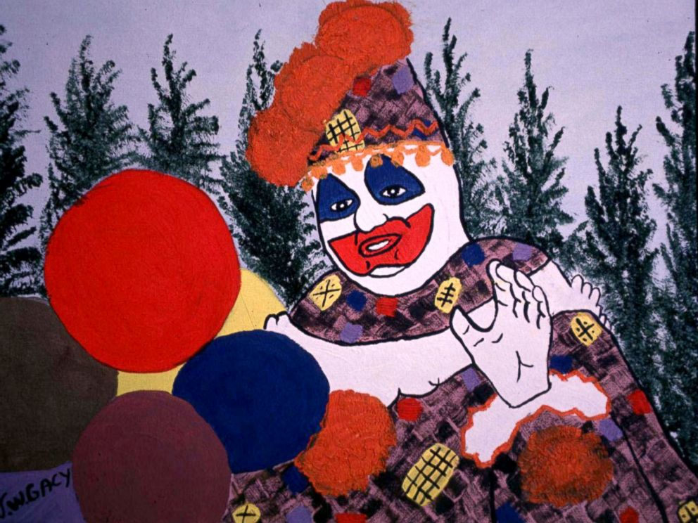 PHOTO: Pogo the Clown self-portrait, drawn by John Wayne Gacy.