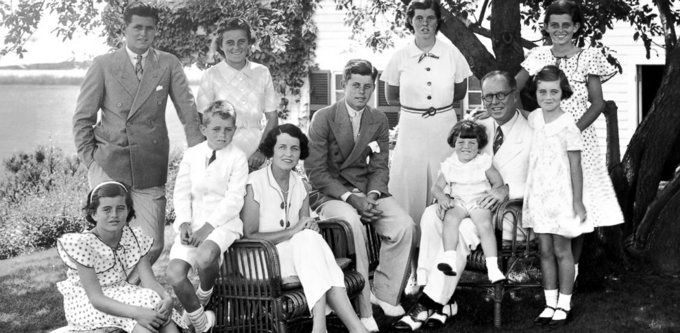 PHOTO: A portrait of the Kennedy family as they sit in Hyannis, Mass.