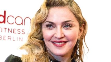 PHOTO: Madonna arrives at the opening of Hard Candy Fitness in Berlin, Oct. 17, 2013.
