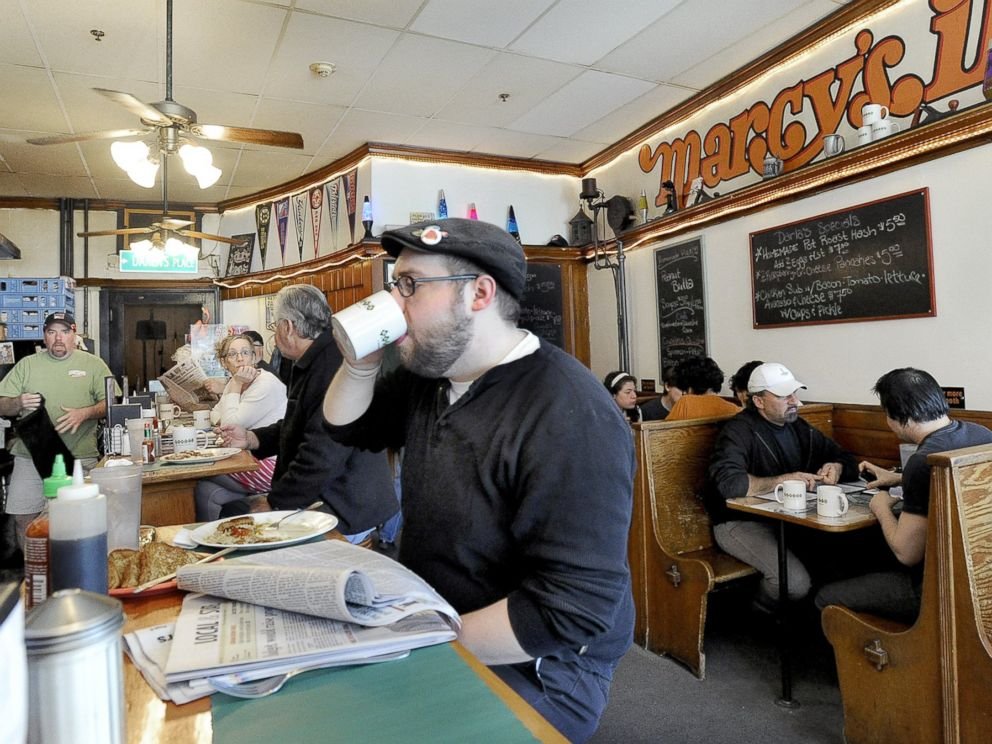 PHOTO: People enjoy breakfast at Marcys Diner in Portland in this April 3, 2012 file photo.