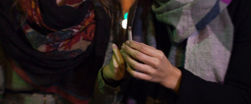 PHOTO: Two women smoke marijuana in this undated file photo.