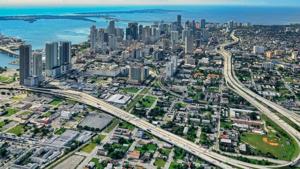 An aerial view of Miami is seen in this undated file photo.