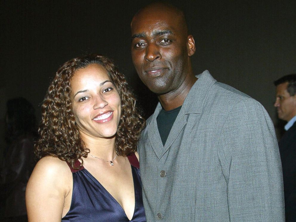 PHOTO: Michael Jace and April Jace attend the third season premiere screening of The Shield at the Zanuck Theater, March 8, 2004 in Los Angeles.