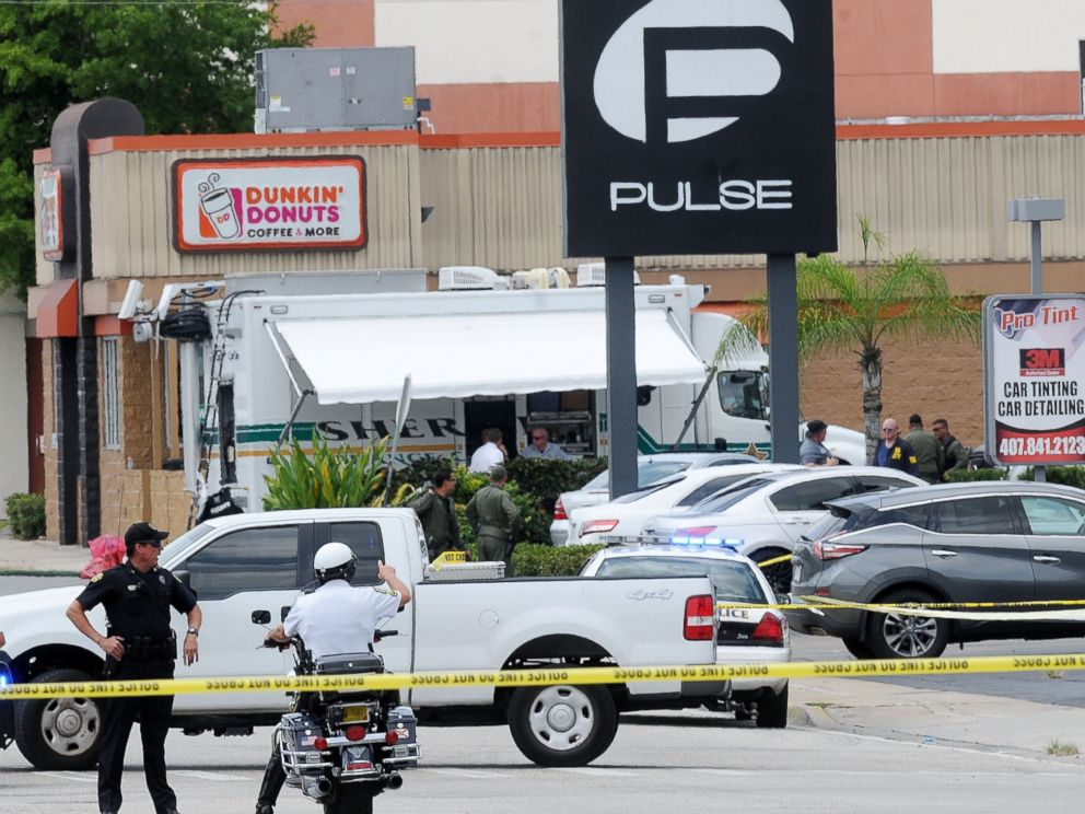 PHOTO:Orlando police officers seen outside of Pulse nightclub after a fatal shooting and hostage situation, June 12, 2016, in Orlando, Fla.