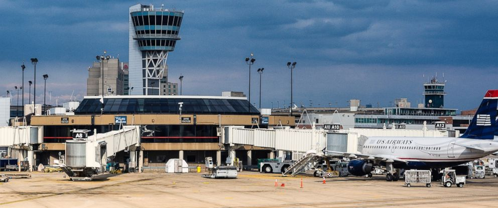 PHOTO: The Terminal and control tower at Philadelphia international airport is seen here.