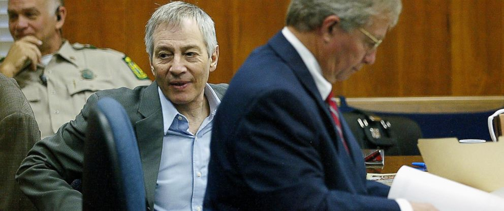 PHOTO: Robert Durst sits with his attorney Dick DeGuerin, Nov. 10, 2003 at the Galveston County Courthouse in Galveston, Texas.