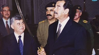 PHOTO: saddam hussein, sword, baghdad, iraq