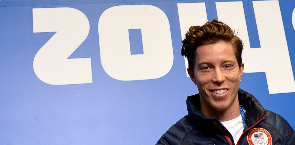 PHOTO:US snowboarder Shaun White speaks during a press conference at Gorky Media Center the Rosa Khutor Alpine Centre Feb. 5, 2014.