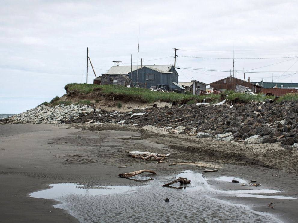 PHOTO: A view of the beach along a barrier island in the Chukchi sea, is seen, July 8, 2015, in Shishmaref, Alaska.