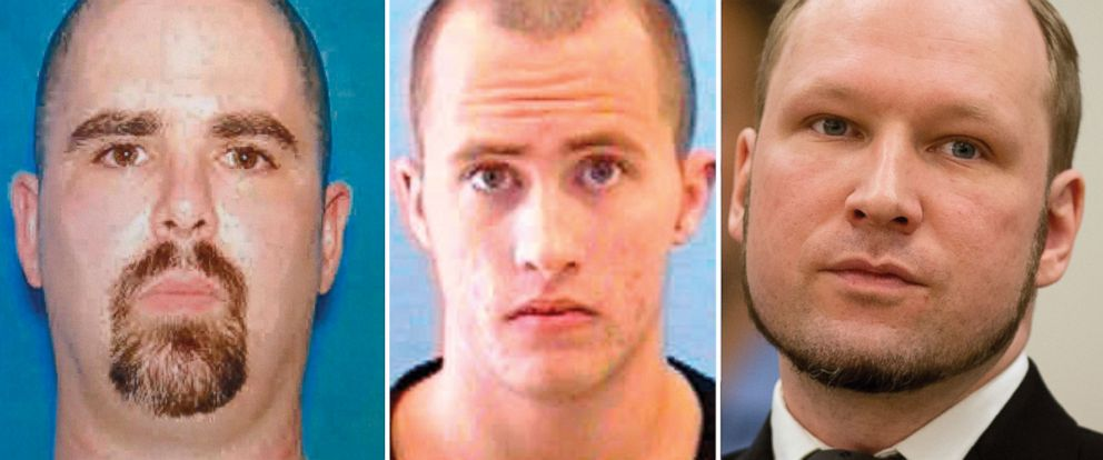 PHOTO: From left to right, Wade Michael Page, Richard Poplawski, and Anders Breivik are seen.