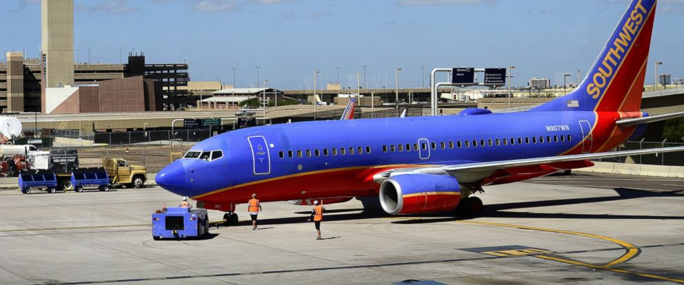 PHOTO: A Southwest Airlines plane is pictured in Phoenix on Sept. 28, 2014.