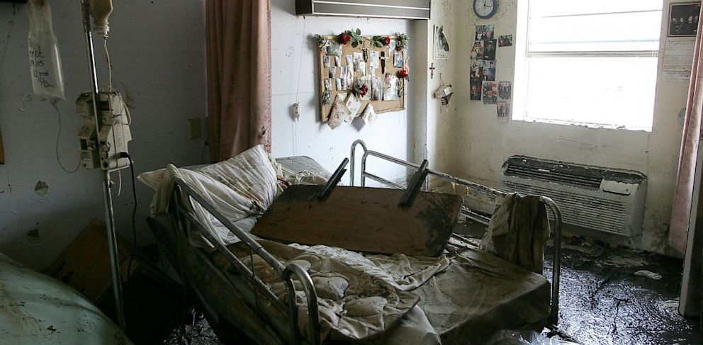 PHOTO: A room at the St. Ritas Nursing Home, September 2005, in St. Bernard, Louisiana.