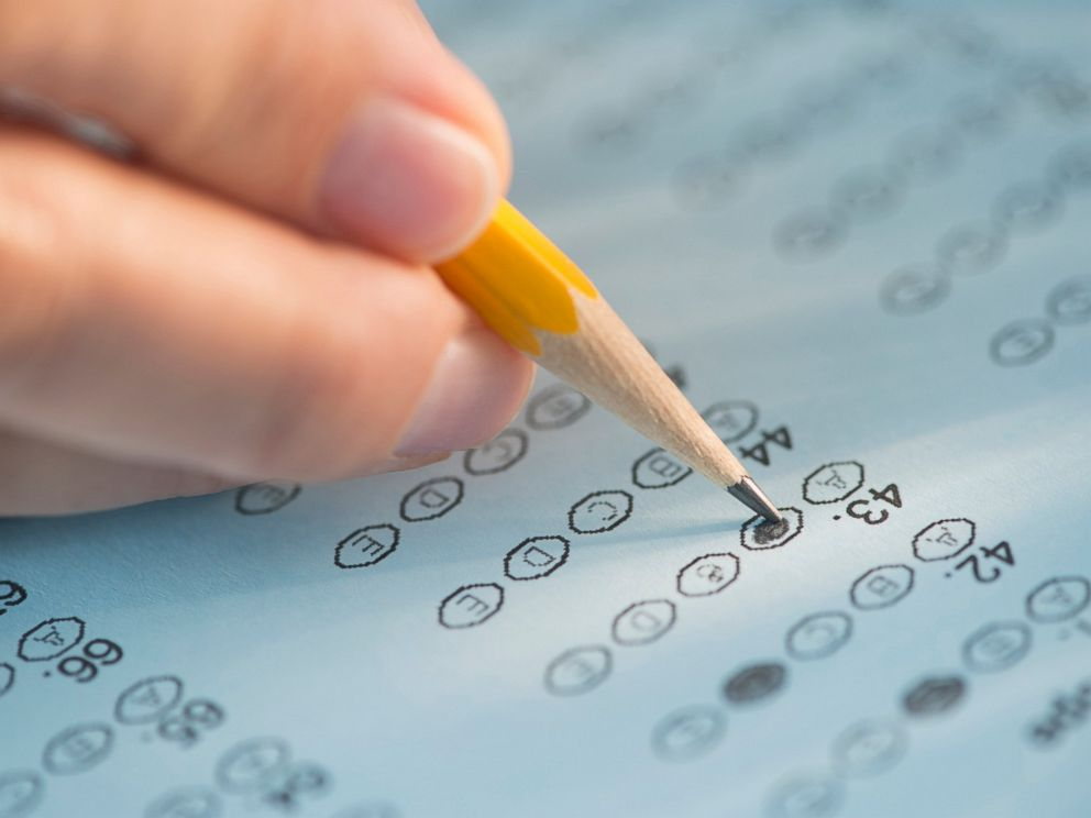 PHOTO: A test form is being filled out in this undated stock image.