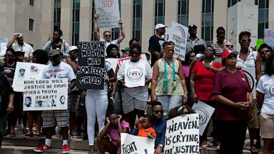 PHOTO: People demonstrate in Washington one week after acquittal of George Zimmerman