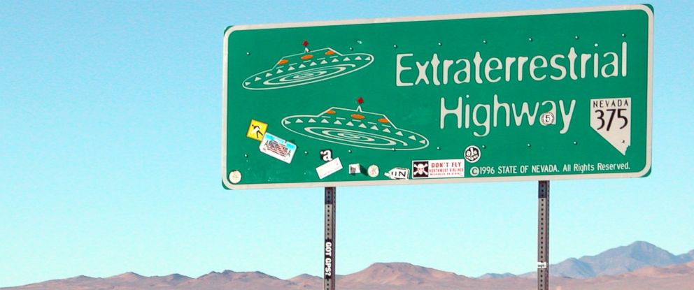 PHOTO: Nevadas Extraterrestrial Highway, Highway 375, is pictured in this undated file photo.