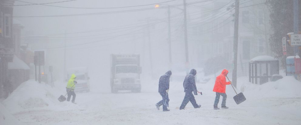 PHOTO:Whiteout conditions met Medford residents, Feb. 2, 2015, while a storm dumped snow in Medford, Mass.