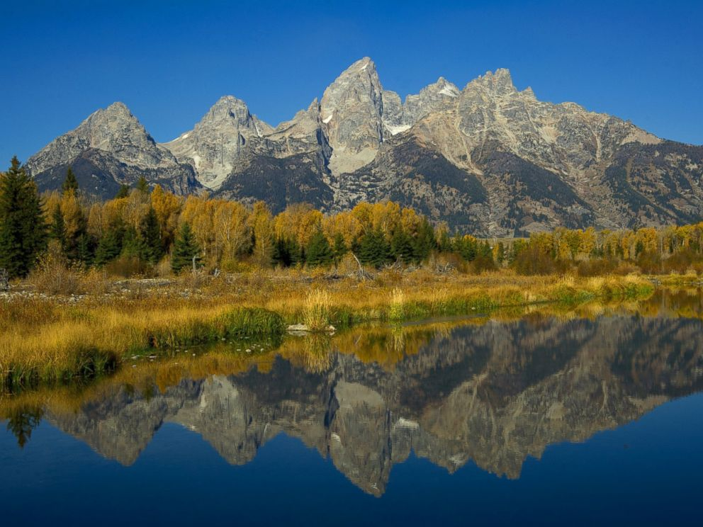 PHOTO: The Grand Tetons are seen on Oct. 4, 2012 in the Grand Teton National Park in Wyoming.