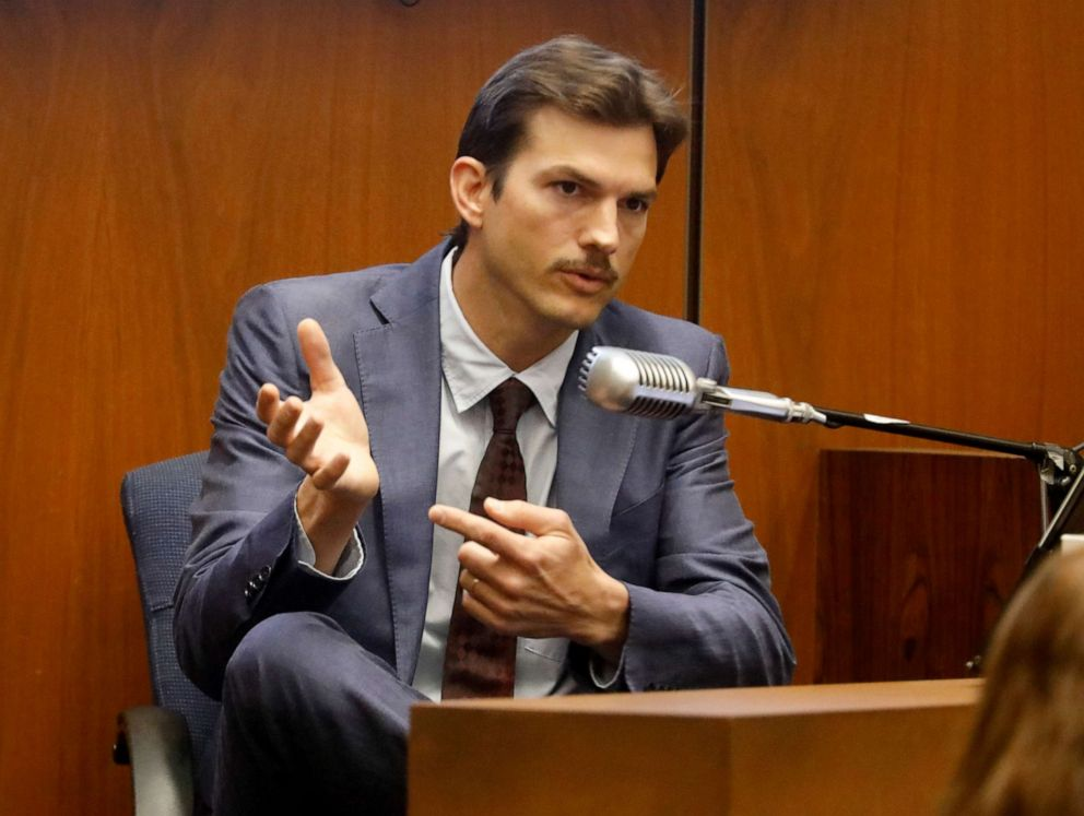PHOTO: Ashton Kutcher testifies in the murder trial of Michael Gargiulo in Los Angeles Superior Court, May 29, 2019.