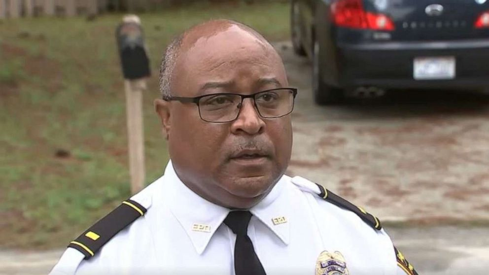 PHOTO: Spokesperson for the Fayetteville Police Department in North Carolina addresses the media regarding a 2-year-old boy suffering an apparent self-inflicted gunshot would while two adults and a teen were home with him on Wednesday, Sept. 16, 2020.