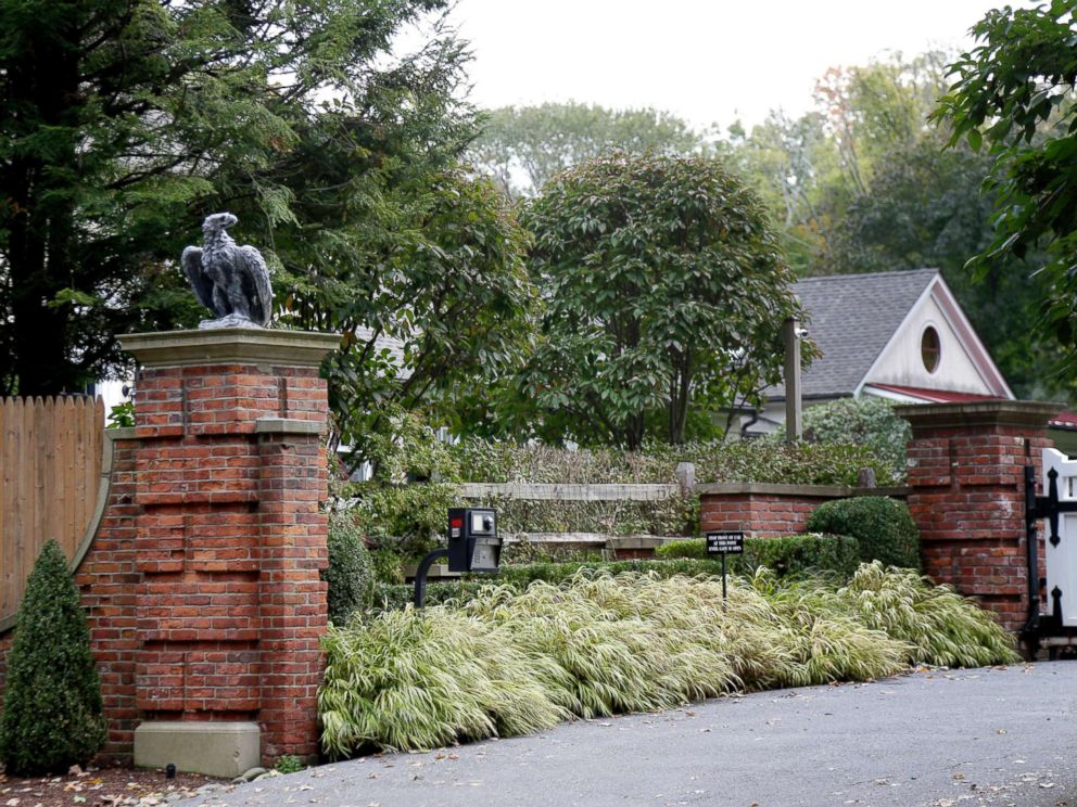 PHOTO: The entrance to a house owned by philanthropist George Soros is seen in Katonah, N.Y., a suburb of New York City, on Oct. 23, 2018.
