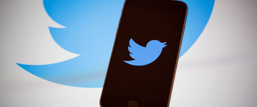 PHOTO: The Twitter Inc. logo is displayed on the screen of an Apple Inc. iPhone 6s in this arranged photograph taken in New York, U.S., on Tuesday, Feb. 9, 2016.
